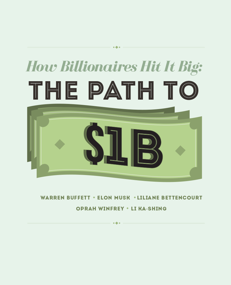 How Billionaires Hit it Big: The Path to One Billion Dollars
