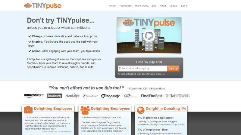 David Niu Founder of TINYhr: Creating a Better Culture for Your Company @TINYpulse