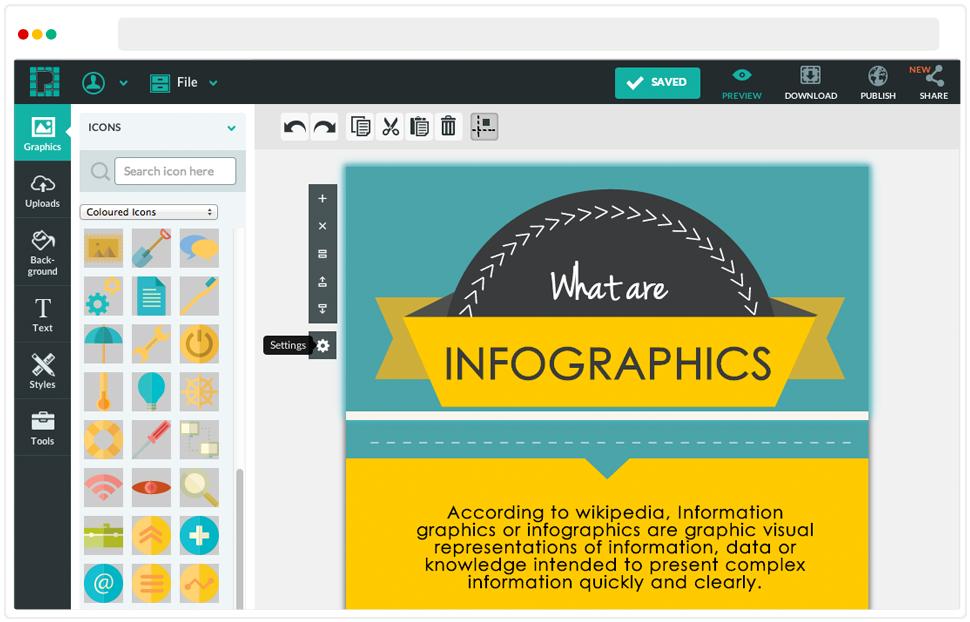 Infographic creator tools