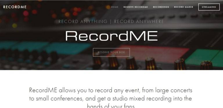 recordme 768x375 2 - John Fiorello Founder RecordME: Record Anything Record Anywhere